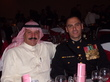 Sheikh Mishael Abdullah Owdeh (Sheikh Shalaan) attends the 2009 US Marine Corps. Ball in Chicago as a guest of Maj. Dan Whisnant. Photo courtesy of Dan Whisnant